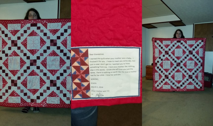 A Quilt for my Grandchild….  Wait I don't haveone….
