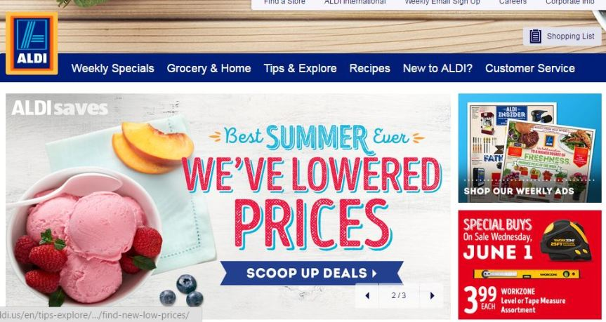 The Frugal Widow Tip #2 Aldi's Stores…
