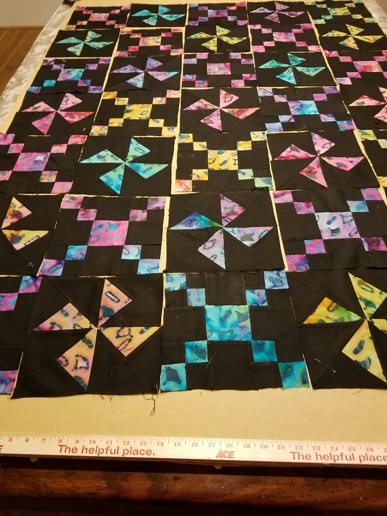 RIP Pretty Batik and Black quilt