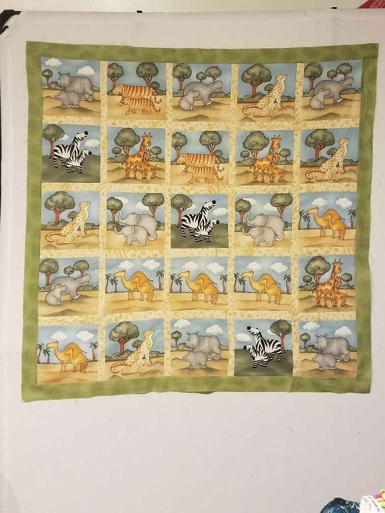 Going on a Safari….Baby quilt Top