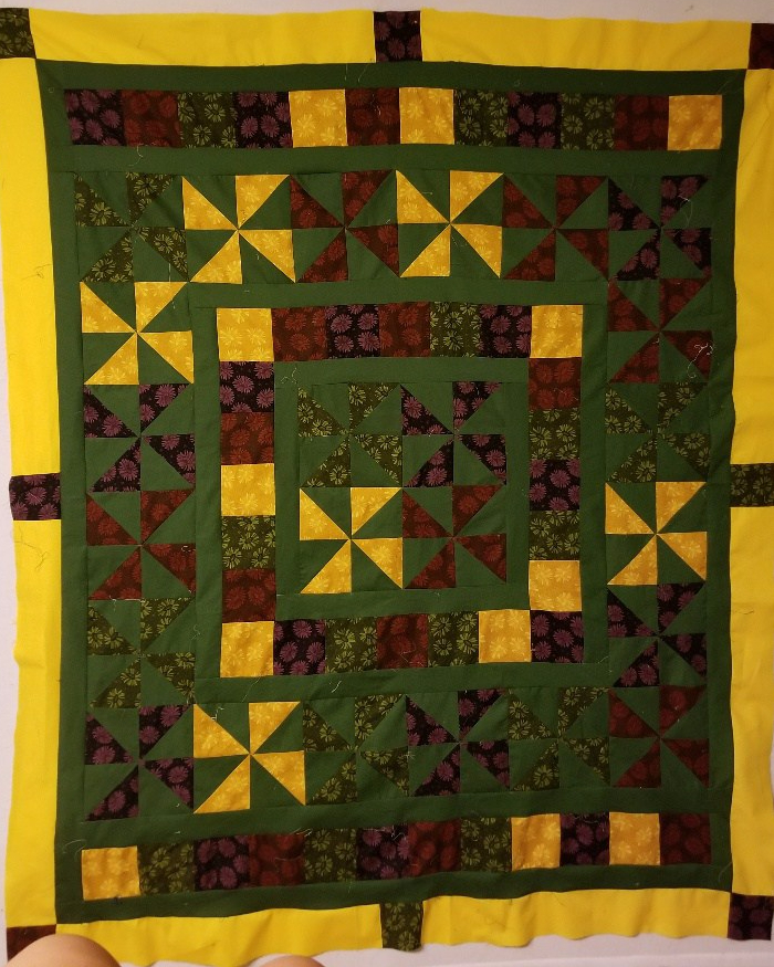 I think I have had enough of this quilt top.
