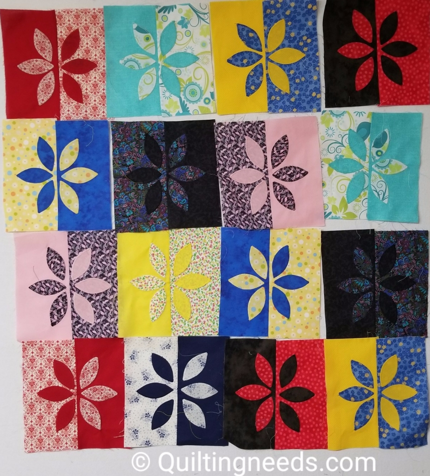 My contrast quilt or the I am mad quilt