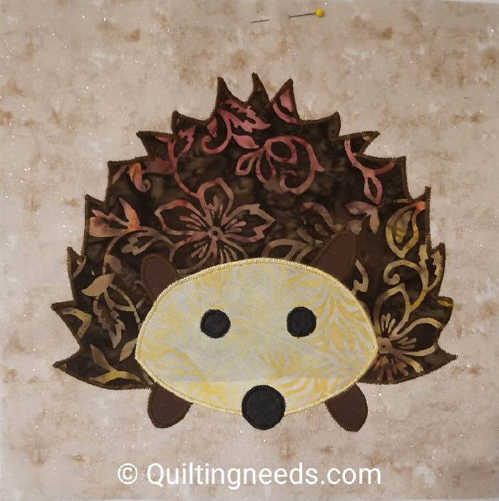 Fall into a Quilt Along –Hedgehog