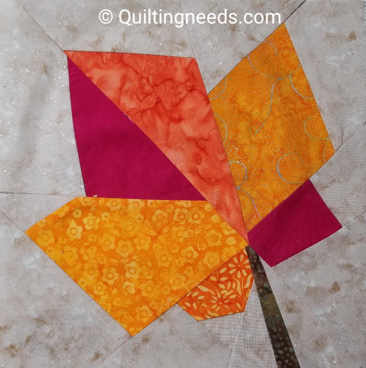My Leaf Block for the Fall Quilt Along
