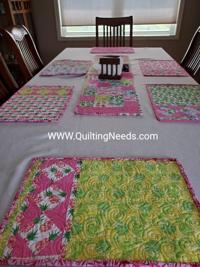 My Table Setting and my QuiltingGodmother