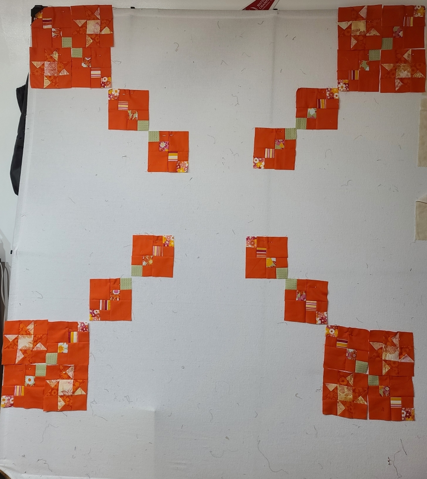 Wow, That is orange – Mystery Quilt Clue #2