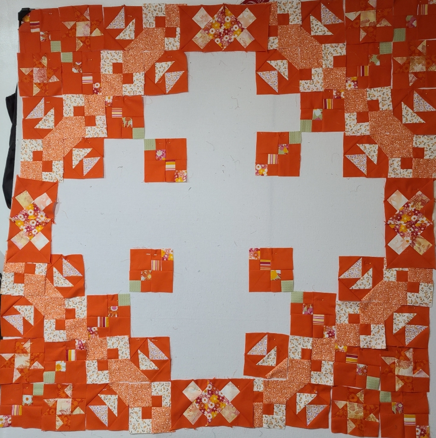 Mystery Quilt Clue #5 – Orange Dreams